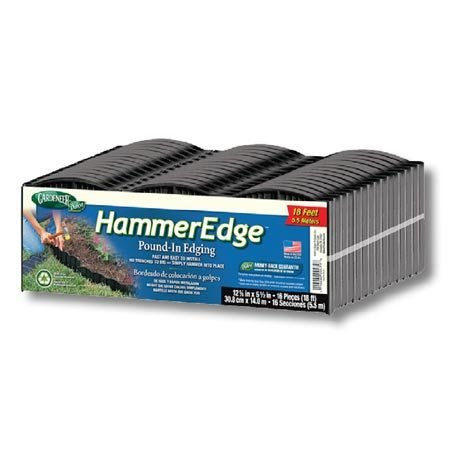Dalen Products E3-16B Gardeneer Edge Pound-In Garden and Landscape Edging - Black