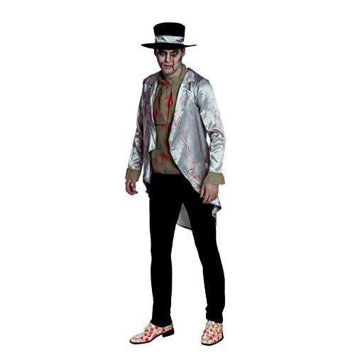 Boland- Costume Adulto Sposo Insanguinato Bloody Groom, Argento/Verde, Taglia 50/52, 79038