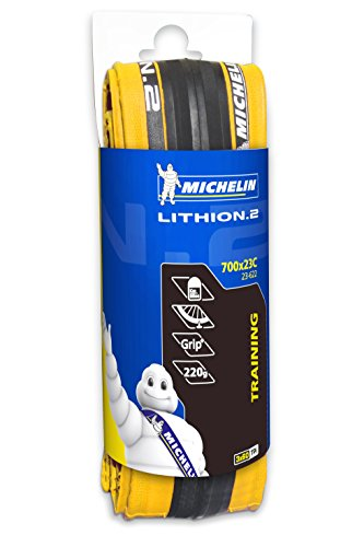 Michelin LITHION V2 - Cubierta 700x23 plegable Michelin, V2 amarillo