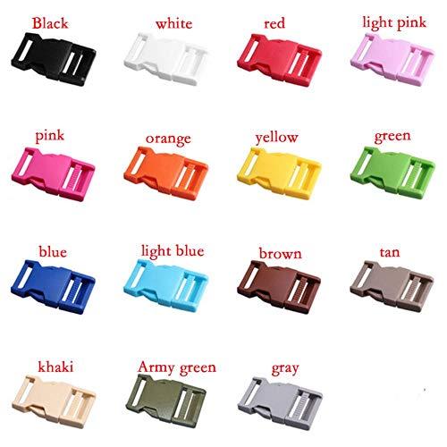 Viner 5-delig pak Singelband Kleur Plastic Sluitingen Gespen aan de zijkant voor rugzakriemen Reistassen DIY-accessoires, wit