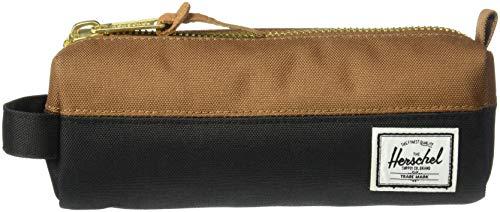 Herschel Supply Herren Settlement Case Handtaschenorganizer, schwarz/Sattel braun, Einheitsgröße