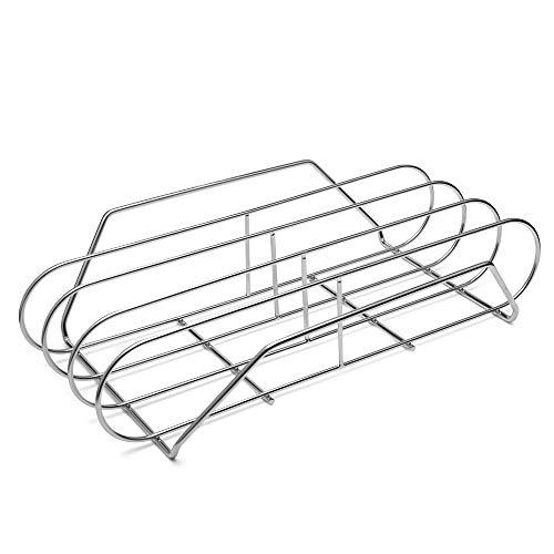G.a HOMEFAVOR Spare Rib Halter BBQ Rippchen Holder zum Grillen, Rippenhalter Edelstahl für Gasgrill, 39.5 x 24 x 8.5 cm