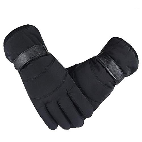 Touch Gloves Touchscreen Handschuhe Herren Damen Winter Daunen Baumwolle Fingerhandschuhe Anti-Rutsch Wasserdichte Winddicht Winterhandschuhe Casual Outdoor Sports Fäustlinge Schwarz