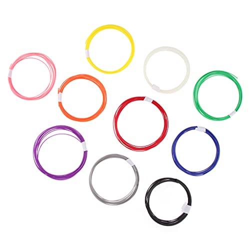 prasku Filamento PLA 3D Filamento 1,75 Mm per Penna 3D 10 Colori - Multicolore 5 m