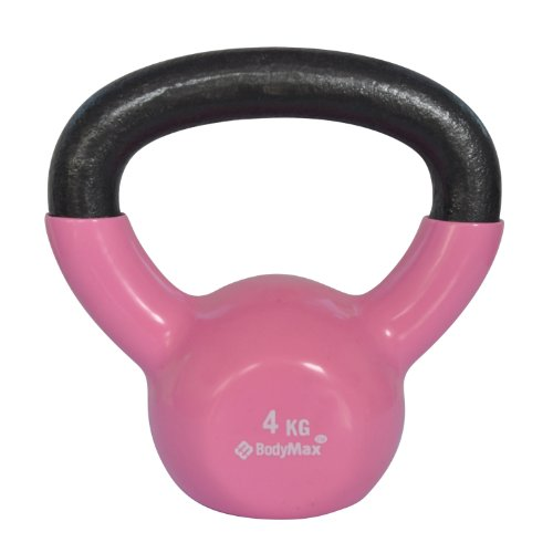 Bodymax 4kg Vinyl Coated Kettlebell (Pink)