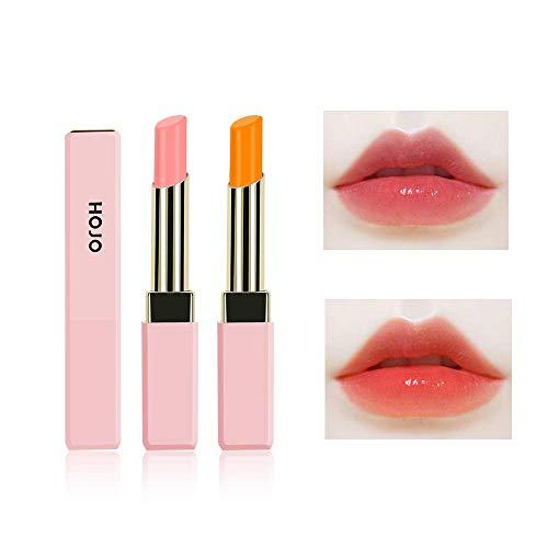 Freeorr 2 Stück Feuchtigkeitsspendende Balsam Lipgloss, Nahrhafter Lang anhaltender Lippenstift...
