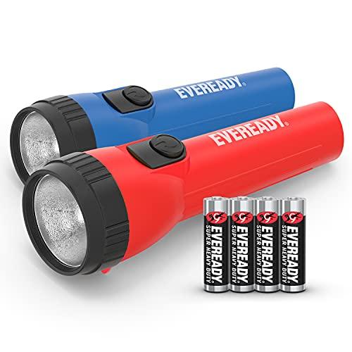 Eveready LED Flashlight, Extra-Long Runtime LED Light, General Purpose & Emergency Handheld Flashlight, 2 Count