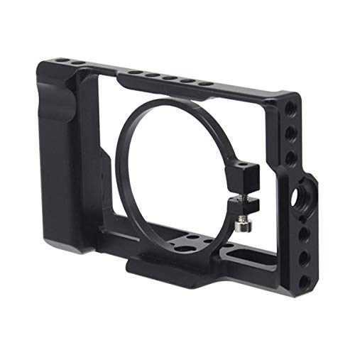 RX100M3 / RX100M4 / RX100M5 カメラケージ にとって SONY DSC-RX100 III(M3)IV(M4)V(M5)DSLRカメラケースカメラリグコールドシュー (RX100 IIIケージ)