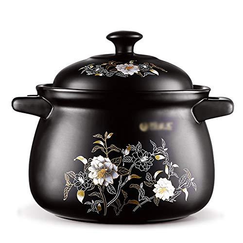 KJRJKX Casserole, Casserole ronde Faitout Pot Cocotte, Ménage à haute température résistant au feu Céramique Casserole Cooker (Size : 8L)