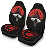 Front Seat Covers Naruto Symbol Anime Print Vehicle Seat Protector 2pc Set Universal Fit