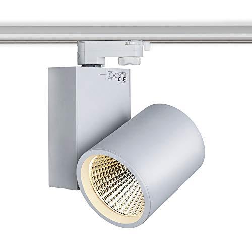 CLE LED 3 Ph Stromschienenstrahler weiß 30W 3000 Lumen, Profi Shoplight