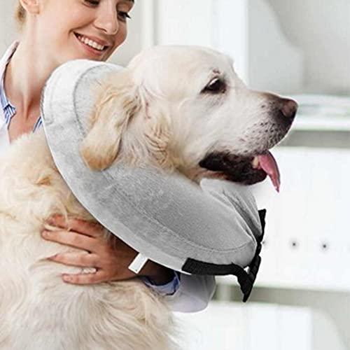 Cuello Anti-bocado Cuello Inflable Cuello de Perro Cuello de Perrito Cuello de recuperación Lesiones de la recuperación Post Cirugy Collar para envío de Mascotas,Leefire
