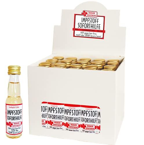 Kleiner Impfstoff Sofort Hilfe | 20 x 2cl. | Landapfellikör süßer Apfellikör Apfel Likör | 16% vol. alk. | Humormedizin | Der erste Impfstoff gegen das Virus kommt aus unserer Humorapotheke