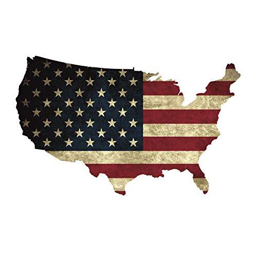 Wandtattoo USA Flagge Old, Modern 6 Größen Aufkleber Sticker Deko Amerika Folie (100 cm Länge 60 cm Höhe, Old)