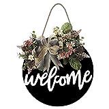 Decoración de corona de bienvenida puerta de la puerta de la puerta de la puerta de la puerta de la puerta de la puerta de la puerta de la puerta de la puerta de la puerta de la corona de la decoració