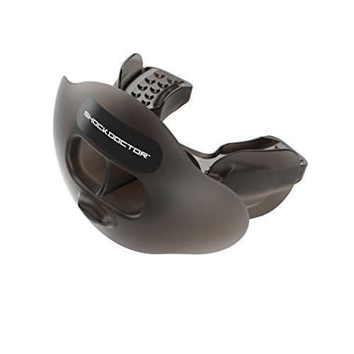 Shock Doctor Max Airflow Lip Guard/Mouth Guard. Football Mouthguard 3300. for Kids/Youth and Adults. Breathable Wide Opening Mouthpiece. Helmet Strap Included