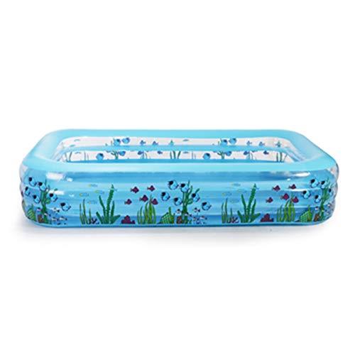 UNCTAD PVC Azul Piscina Inflable Infantil - Válvula de Seguridad incorporada - No se deforma fácilmente - Fuerte y Duradero - 262 × 51 × 175cm Fácil de Limpiar Piscina de Agua para niños