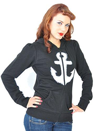 Küstenluder WHITE ANCHOR Anker Sailor Hooded Zip Sweat JACKE Rockabilly - 6