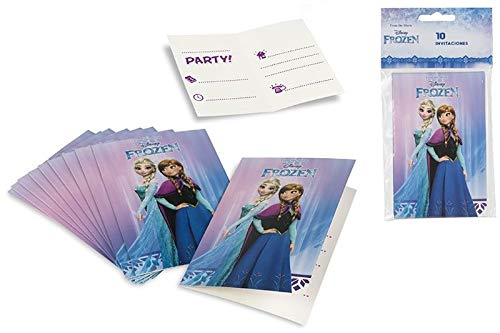 Disney Frozen, 71913, Pack 10 Invitaciones Frozen, para Fiestas y cumpleaños