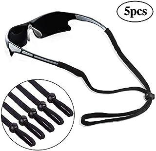 5 Pack Sports Eyeglasses Holder Strap Sunglasses Lanyard Cotton Neck Cord Retainer of Mini Tree