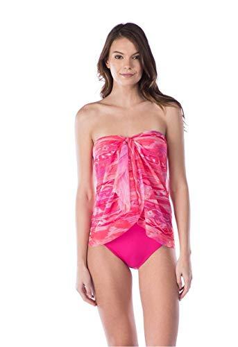 Ralph Lauren Lauren Calypso Flyaway One Piece Swimsuit Coral Size 8