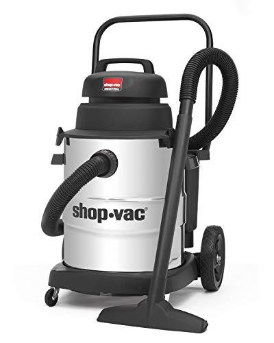 Shop-Vac 9258210 Aspiradora industrial de 10 galones 6.0 HP de acero inoxidable para uso en seco y húmed