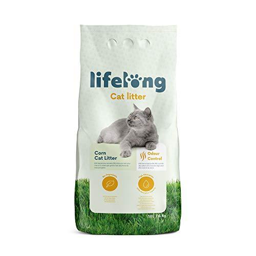 Marchio Amazon Lifelong Lettiera di mais per gatti 10L