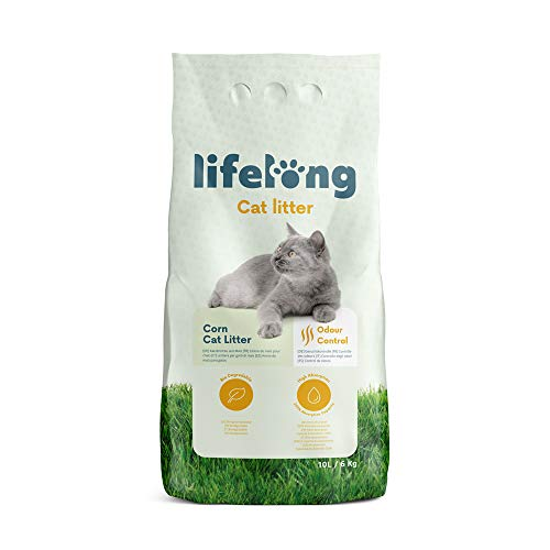 Marca Amazon Lifelong Arena de maíz para gatos 10L