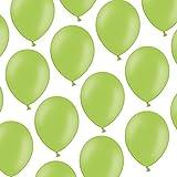 Kleenes Traumhandel - 100 palloncini, 23 cm, verde chiaro pastello, non si deformano
