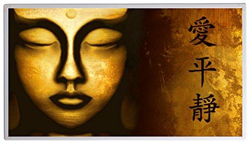 Bildheizung Infrarotheizung mit Digitalthermostat - 5 Jahre Herstellergarantie - - Heizt nach dem Prinzip der Sonne(Buddha,130)
