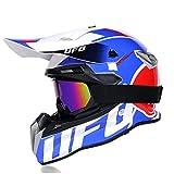 ZHHTT Cascos de Motocross, Casco ECE Dot ATV MX Amazon para Hombres y Mujeres, Utilizado para Off-...