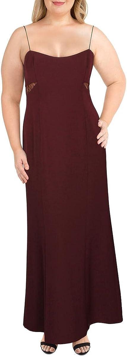 LAUREN RALPH LAUREN Womens Metallic One Shoulder Formal Dress