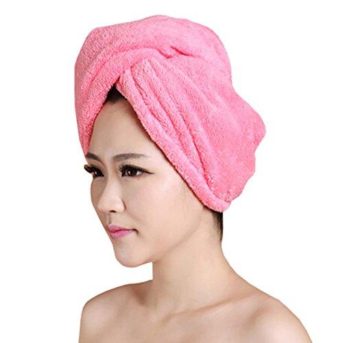 Doux séchage des cheveux PAC forte absorption d'eau-Cap Bath showercap Rouge