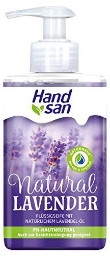 Handsan NATURAL LAVENDER Flüssigseife 300 ml im Spender/Handseife seifenfrei im Spender 1x 300 ml