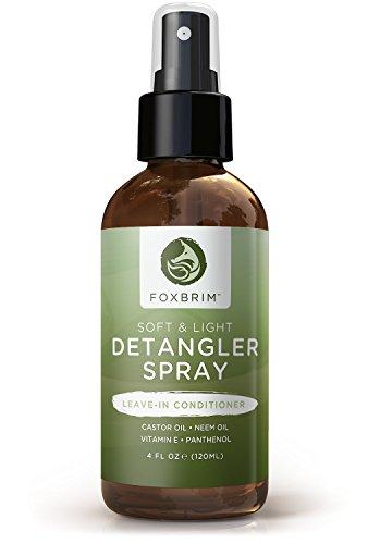 Hair Detangler Spray - Natural & Organic - Foxbrim Soft & Light Hair Detangler Spray - Nutrient Rich...
