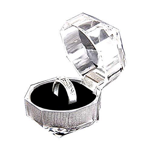 Transparante geschenkdoos ring doos