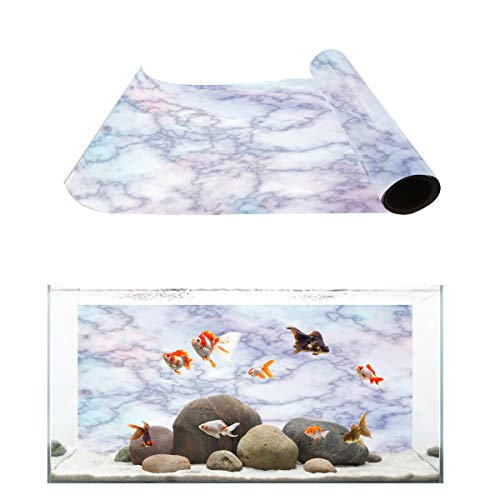 Fantasy Star Aquarium Background Primary Color Marble Fish Tank Wallpaper Easy to Apply and Remove PVC Sticker Pictures Poster Background Decoration 12.4