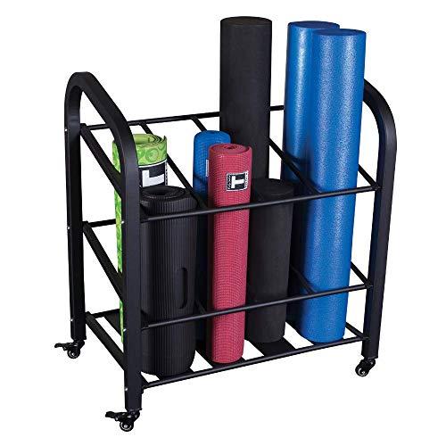 Body-Solid Foam Roller and Yoga Mat Storage Cart (GYR500)