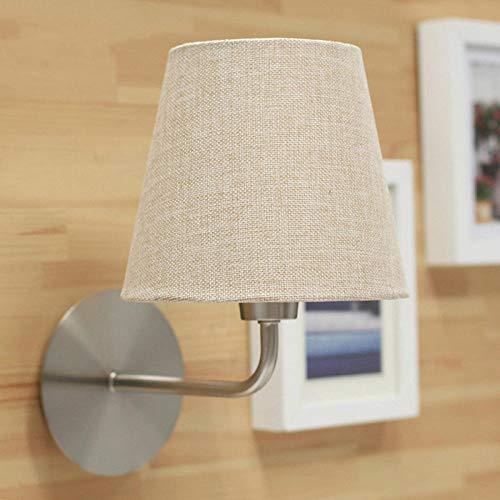 Spots Lamp Wandarmaturen Verlichting Lampen Wandwaslampen Wandlamp Noord-Europa Wandlamp Moderne Bedzijde Smeedijzeren Lampen Balkon Stof Lampenkap Wandlampen Bed-Verlichting Licht voor Home Decor