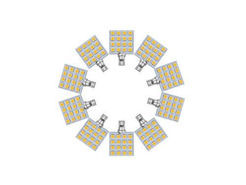 Njytouch 10 pcs Blanc froid 16smd 5050 T10 194 W5 W 192 168 LED WEDGE ampoules de voiture Tail Light 6000 K DC 8–25 V