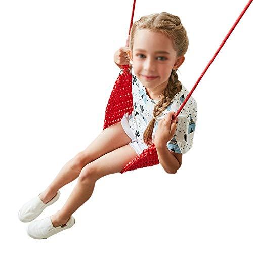 Yamyannie Columpio para Niños Oscilación de los niños del Asiento Interior Jardín Swing Kids portátil 55x20cm Juguetes para Exterior (Color : Red, Size : 55x20cm)