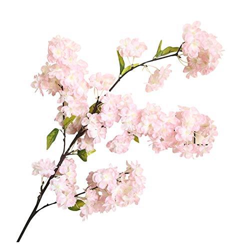 lliang Künstliche Blumen Künstliche Blume Pflanze Bonsai Hochzeit Dekoration Anlage Wand Kirschblüten Frühling Sakura DIY Dekoration (Farbe : C)