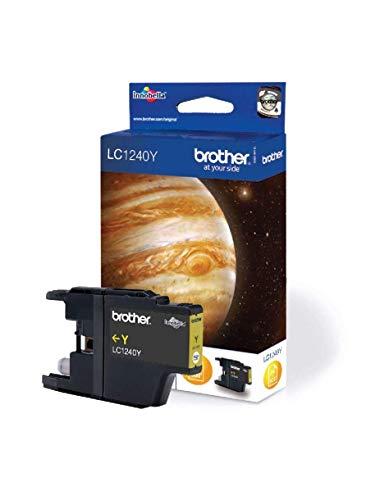 Brother LC1240A - Cartucho de tinta amarillo (duración estimada: hasta 600 páginas según ISO/IEC 24711)