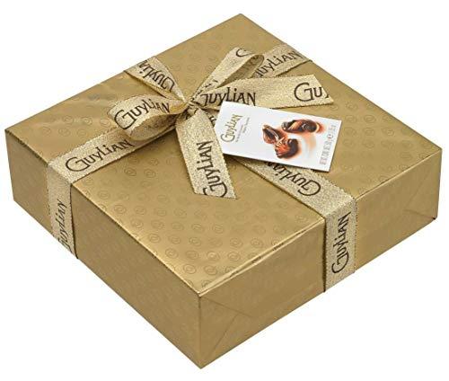 Guylian Praline Mit gefüllte Schokoladenmuscheln in Gold Geschenkverpackung Ballotin 500g