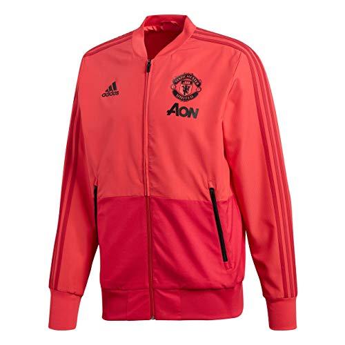 adidas Manchester United Presentation Jacket Sudadera, Hombre, Color Rosa, Rojo Y Negro, Small