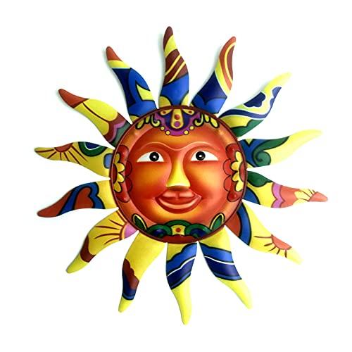 Décoration murale en fer à suspendre en forme de soleil pour intérieur et extérieur