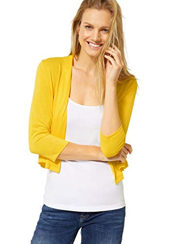 Street One Damen 314825 Strickjacke, Shiny Yellow, 44