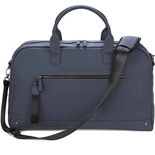 The Friendly Swede Weekender Reisetasche für Damen und Herren - Hochwertige Duffle Bag Reisetasche Handgepäck Tasche - VRETA Travel Bag - 35L, Veganes PU (Blau Matt)