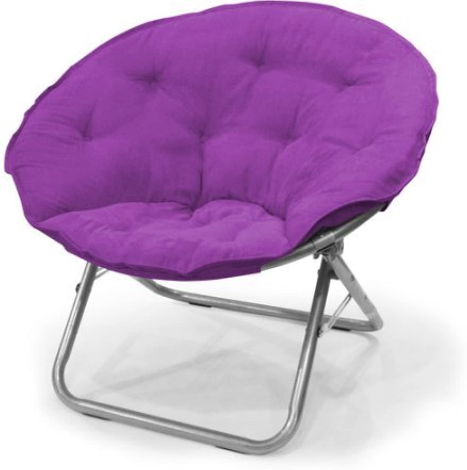 Mainstays Large Microsuede Saucer Chair Purple