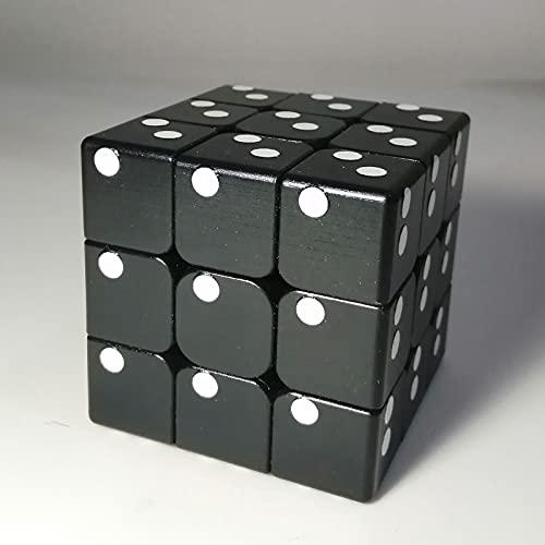 iHora Speed Rubiks Cube 3x3 with Raised Braille Digits UV Print, Black